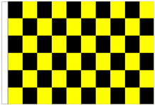 Black And Yellow Check 5' x 3' Larger Sleeved Flag